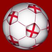 England soccer ball — Stockvektor