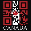 Canada QR code flag — Stock Vector #48281201