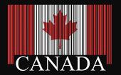 Canada barcode flag — Stock Vector