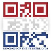 Netherland QR code flag — Stock Vector
