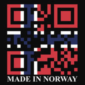 Norway QR code flag — Stock Vector