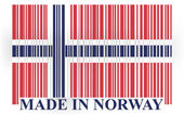 Norway bar-code flag — Stock Vector