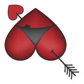 Pierced heart bikini panties — Vetorial Stock