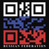 Bandiera di codice qr russia — Vettoriale Stock
