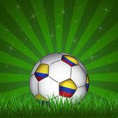 Columbia soccer ball — Stock Vector