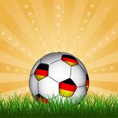 Germany soccer ball — Stock Vector