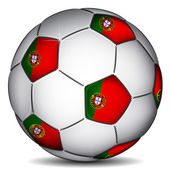Portugal soccer ball — Stock Vector