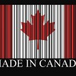 Canada bar-code flag — Stock Vector #48506729
