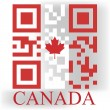 Canada QR code flag — Stock Vector #48506731