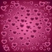 Fond avec des coeurs — Vecteur