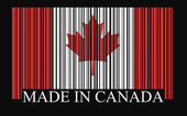 Canada bar-code flag — Stock Vector