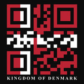 Denmark QR code flag — Stock Vector