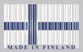 Finland bar-code flag — Stock Vector