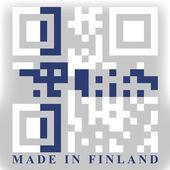 Finland QR code flag — Stock Vector