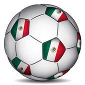 Pallone da calcio Messico — Vettoriale Stock