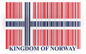 Norway barcode flag — Stock Vector