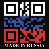Russia QR code flag — Stock Vector
