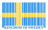 Sweden bar-code flag — Stock Vector