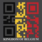 Belgium QR code flag — Stock Vector