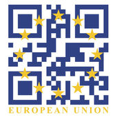 EU QR code flag — Stock Vector