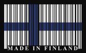 Finland barcode flag — Stock Vector