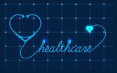 Medical Valentines symbol — Stock Vector