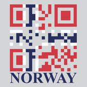 Norway QR code flag — Stock Vector