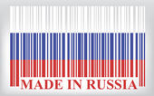 Russia barcode flag — Stock Vector