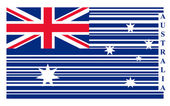 Australia barcode flag — Stock Vector