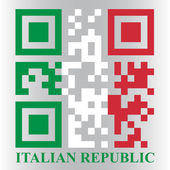 Italian QR code flag — Stock Vector