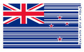 New Zealand barcode flag — Stock Vector