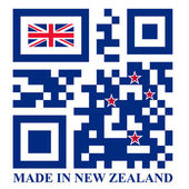 New Zealand QR code flag — Stock Vector
