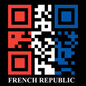 French QR code flag — Stock Vector
