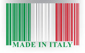 Italian barcode flag — Stock Vector