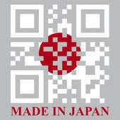 Japan QR code flag — Stock Vector