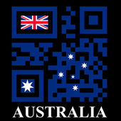 Australia QR code flag — Stock Vector