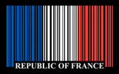French barcode flag — Stock Vector