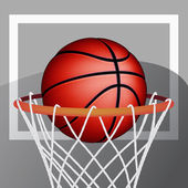 Basketbalový míč — Stock vektor