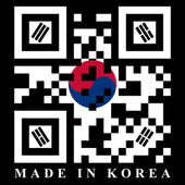 Korean QR code flag — Stock Vector