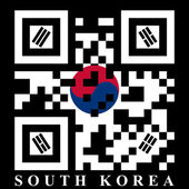 Korean QR code flag — Stock Vector