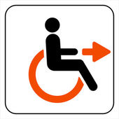 Disabled icon  sign — Vettoriale Stock