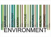 ENVIRONMENT  text bar-code — Stock Vector