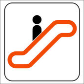 Escalator Information signal — Vettoriale Stock