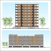 Habitation building — Stock Vector
