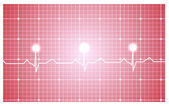 Heart and ecg — Stock Vector