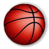 Palla basket — Vettoriale Stock
