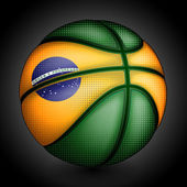 Brazilian basket ball — Stock Vector
