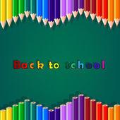 Torna a scuola, matita colorata — Vettoriale Stock