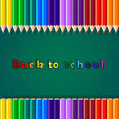 Back to school, colorful pencil — Stock Vector