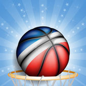 French basket ball — Stock Vector